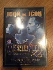 WWF - Wrestlemania 18 (X8) DVD WWE 2002 Rare