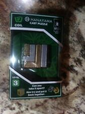 NEW!  Hanayama Cast Metal Brainteaser - BEPUZZLED - Coil Puzzle - Level 3 - FAST