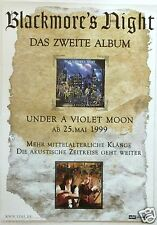 "BLACKMORE'S NIGHT ""UNDER A VIOLET MOON"" GERMAN PROMO POSTER-Ritchie, Deep Purple"