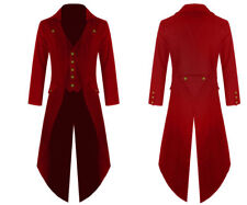 Handmade New Mens Steampunk Tailcoat Gothic Jacket Victorian Long Coat 6 Colours