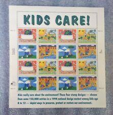 2951-2954 KIDS CARE 32c MINT SUPERB NH SHEET MNH OG VF Plate #44444 Stamps