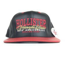 NWT Hollister Motorcycle Classic 50th Anniversary Bolado Park Leather Cap Hat US