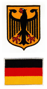 Ah64+ad39=2p Germany Flag Eagle Arms Sew-On Iron-On Patches