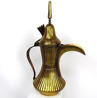 "Antique 14"" HEAVY Turkish Tea Middle East Turkey Ornate Brass Tea Pot Teapot"