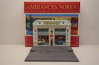 FACADE GARAGE RENAULT AMBIANCES NOREV EN RÉSINE 1/43 COFFRET NEUF