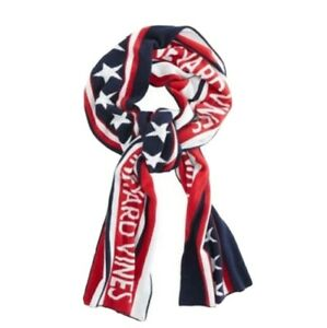 Vineyard Vines Scarf Red White Blue Patrotic American Flag Stars Stripes