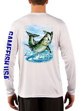 Men's UPF 50 Long Sleeve Microfiber Performance Fishing Shirt Tarpon