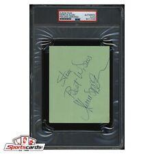 Marcus Allen NFL Football 2003 HOF Signed Cut PSA/DNA Authentic Autograph