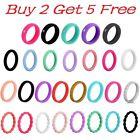 Flexible Wedding Silicone Ring Men Women Rubber Band Size 4-14 Buy 2 Get 5 Free