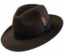 SELENTINO COLOMBO 100% GENUINE FUR FELT FEDORA HAT ALL COLOR'S 6 1/2 - 8