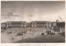 PARIS. Place de Louis Quinze en 1789. Place de la Concorde. Aquatint 1808