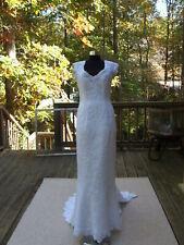 ORG $4299 WEDDING GOWN DRESS FULLY LINED long DRESS SLEEVELESS SZ12