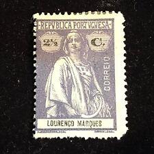 1914 Lourenco Marques Postage Stamp, Unused
