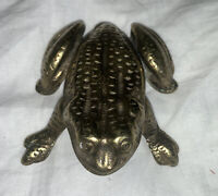 Antique Vintage Brass Frog Door Knocker ENGLAND