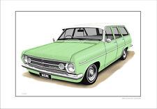 66' 67' HOLDEN HR STATION WAGON 186 LIMITED EDITION CAR PRINT AUTOMOTIVE ARTWORK