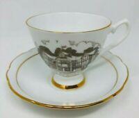 Viletta's Arts Regency Fine Bone China Footed Tea Cup & Saucer Set - England