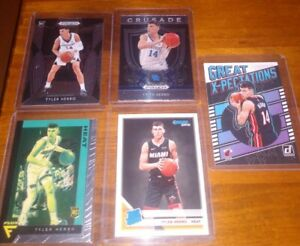 TYLER HERRO RC Lot of (5) Panini Prizm - Chronicles- Rated Rookie Miami Heat!!!