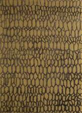 Modern Gold 5X8 Feet Wool and Viscose Oriental Pattern Hand Tufted Area Rug
