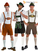 Mens Oktoberfest Bavarian Beer German Lederhosen Fancy Dress Costumes Outfit