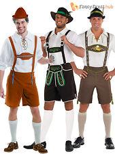 Mens Oktoberfest Bavarian Costumes German Lederhosen Fancy Dress Outfit Beer