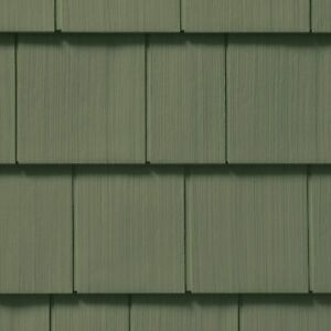 Cedar Impressions Double 7in. Straight Edge Perfection Shingles Siding. Forest