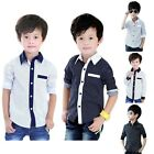 Kid Boy Clothes Long Sleeve Casual Shirt Toddler Button Down Shirts Tops Blouse