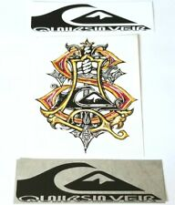 Quiksilver 3 Vintage Surf Stickers Surfing Foil Surf Art Decal Vinyl Surfboard