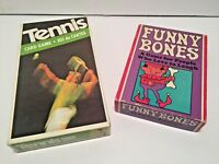 Two Vintage Parker Brothers Card Games Funny Bones (1968) Tennis (1975)