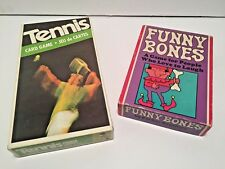 Two Vintage Parker Brothers Card Games Funny Bones (1968) Tennis (1975)
