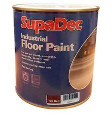 SupaDec Industrial Garage Floor Paint Concrete cement Tile Red 1 Litre