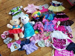 Build A Bear Bundle Disney Superhero Fairy Elsa Frozen Dresses Clothes Shoes Lot