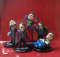 5Pcs/Set The Dark Knight Q Version Heath Ledger Joker Action Figure Toys