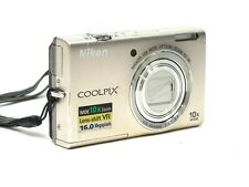 Nikon Coolpix S6200 16MP Digital Camera Silver 10x Wide Camera Only