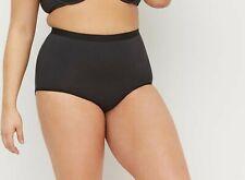 Lane Bryant Cacique Cotton High Waist Brief Panties Underwear Black 18 / 20