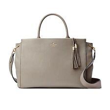 NWT KATE SPADE NEW YORK Atwood Place Larson Shoulder Purse Bag Grey WKRU5315