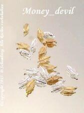 Nail Art Nageldesign 3D Gold 2 Stück Federn Inlay Charm Overlay Gem für Profis