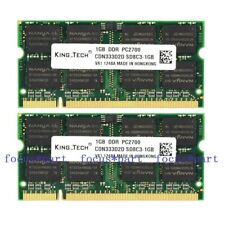 New 2GB 2X1GB PC2700 DDR1 333MHZ 200pin IBM Thinkpad R50 R51T40 T42 X31 X32 X40