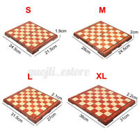 S-XL Wooden Chess Set Folding Chessboard Magnetic Pieces Board Craft