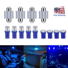 13x Auto Car Interior LED Lights For Dome License Plate Lamp 12V Kit BLUE
