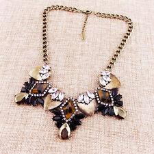 "15"" New Baublebar Leopard Resin Bib Statement Necklace Best Gift Vintage Jewelry"