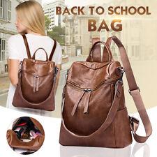 Women Girls Leather School Backpack Rucksack Handbag Shoulder Travel Bag Tote