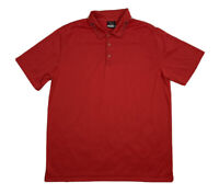 Mens Nike Golf Dri Fit Red Golf Polo Shirt Size Large L
