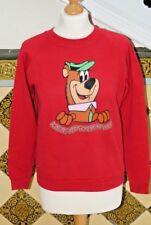 Vintage 90's Yogi Bear Cartoon small Red Sweatshirt Jumper Sweater