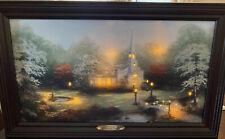 New ListingThomas Kinkade Hometown Chapel Illuminated Light Up Canvas Art Print