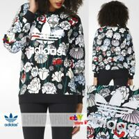 Adidas Originals FLORAL SWEATSHIRT HOODIE B36939 Womens Rita Ora UK 14 TREFOIL