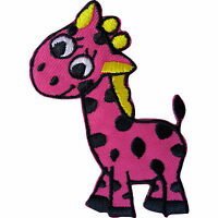 Iron On Sew On Embroidered Giraffe Patch Badge Appliqué Motif Kids Crafts Shirt
