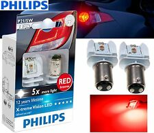 Philips P21/5W LED Xtreme Vision Red Brake tail signal light BAY15D 2 pin 1157