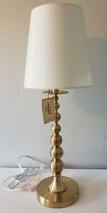 NEW! Ralph Lauren Stacked Graduated Balls Candlestick Table Lamp Brass Gold Tone