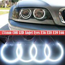 BMW E36 E38 E39 E46 3 5 7 White COB LED Angel Eyes Halo Rings Headlight