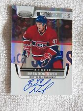 Montreal Canadiens Brendon Nash Signed 11/12 Certified Auto Card